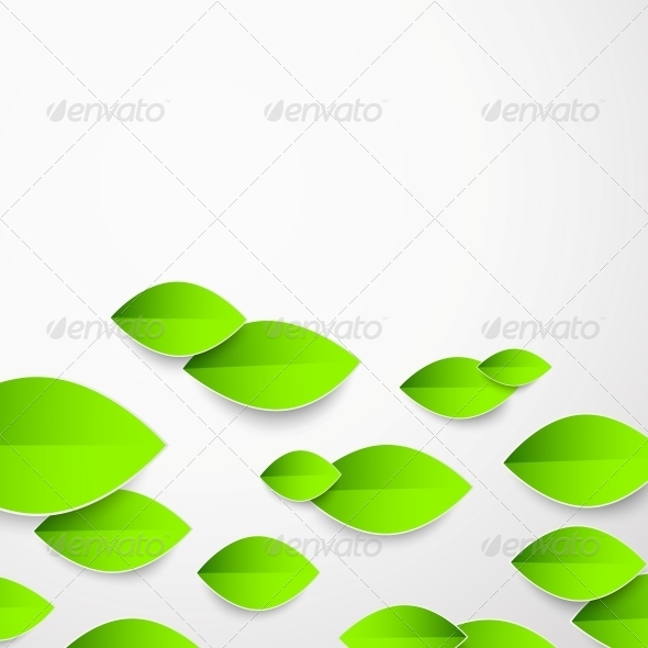 GraphicRiver Background with Green Flower 5899718