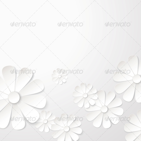 GraphicRiver White Paper Flower Postcard 5899736