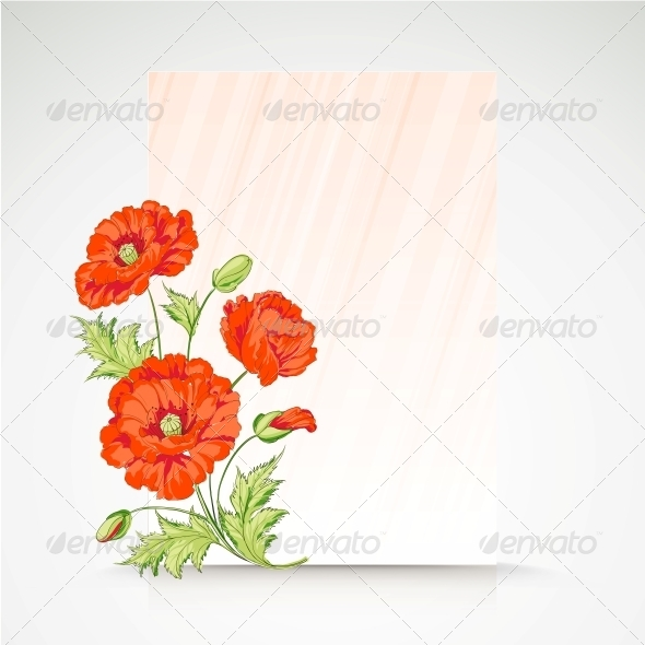GraphicRiver Frame with Flowers of Poppies 5899752