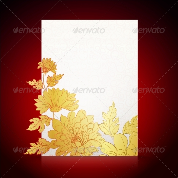 GraphicRiver Card Background from Chrysanthemums 5899762