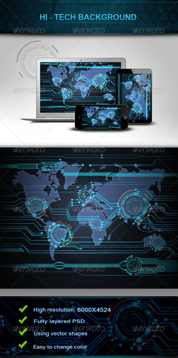 GraphicRiver Hi Tech Background v2 5899849