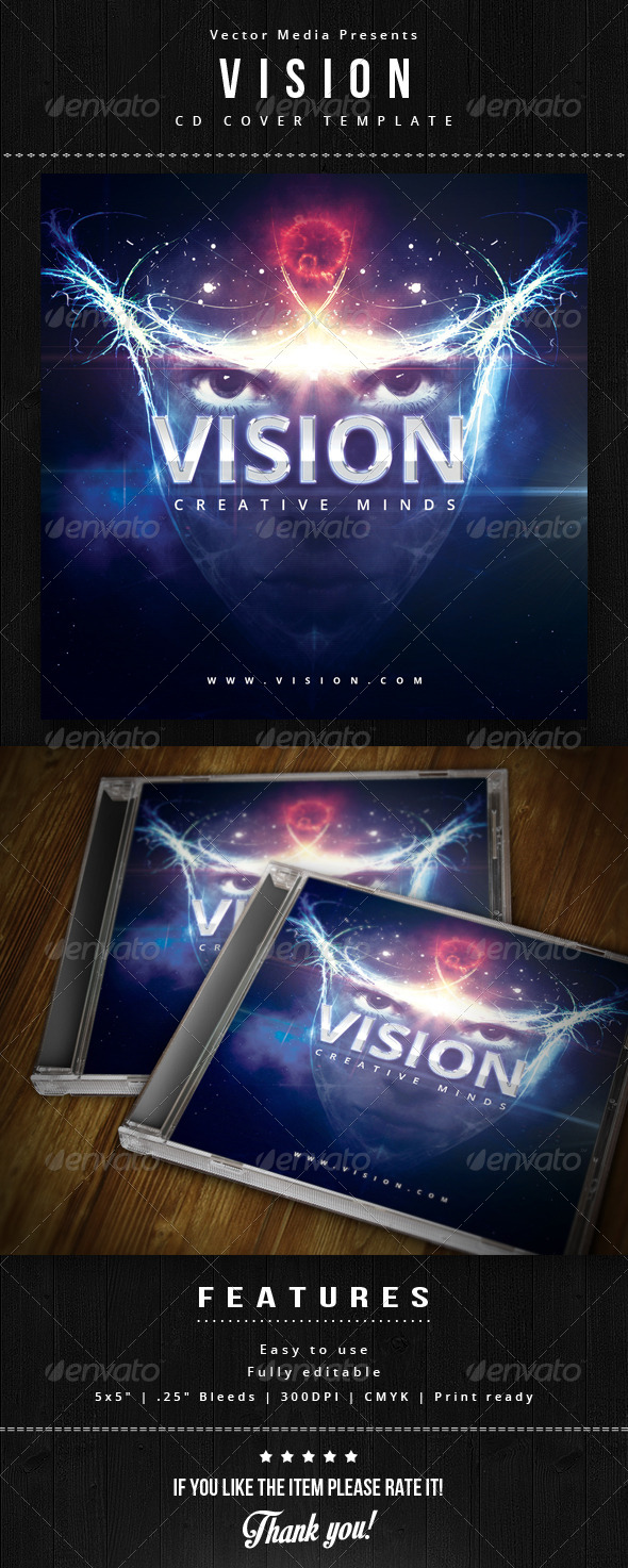 GraphicRiver Vision Cd Cover 5899875