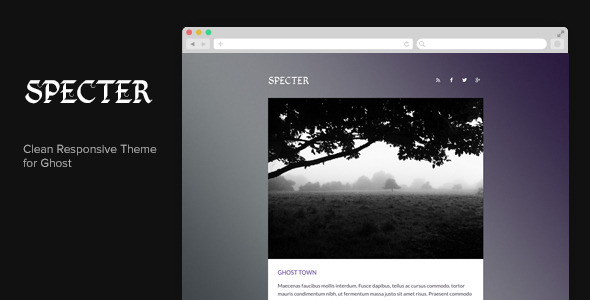 Specter - Clean Responsive Ghost Theme