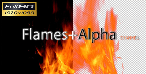 Flames with Alpha Channel