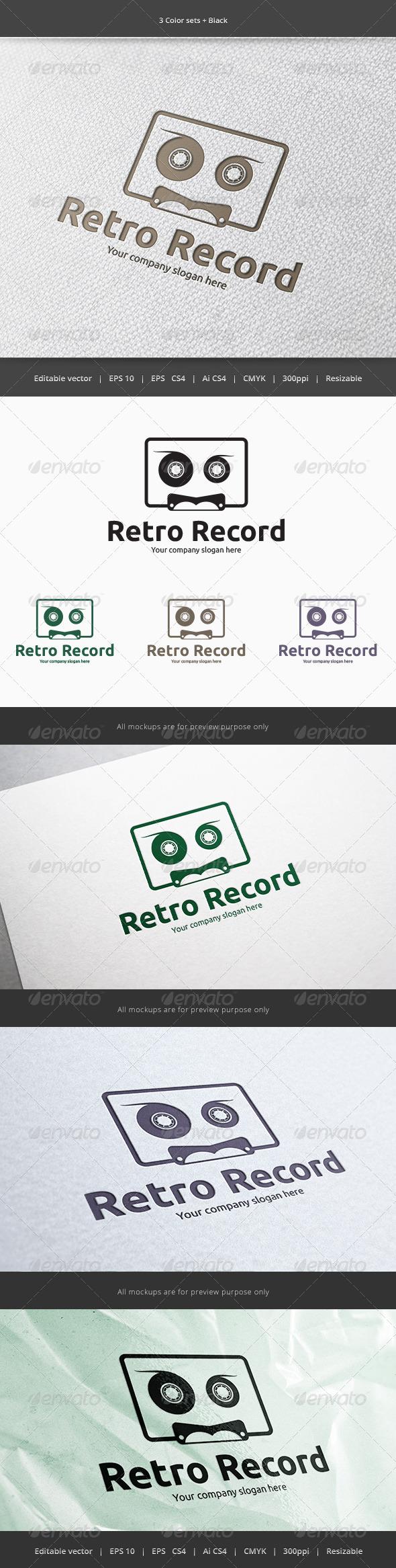 GraphicRiver Cassette Sound Record Logo 5900247