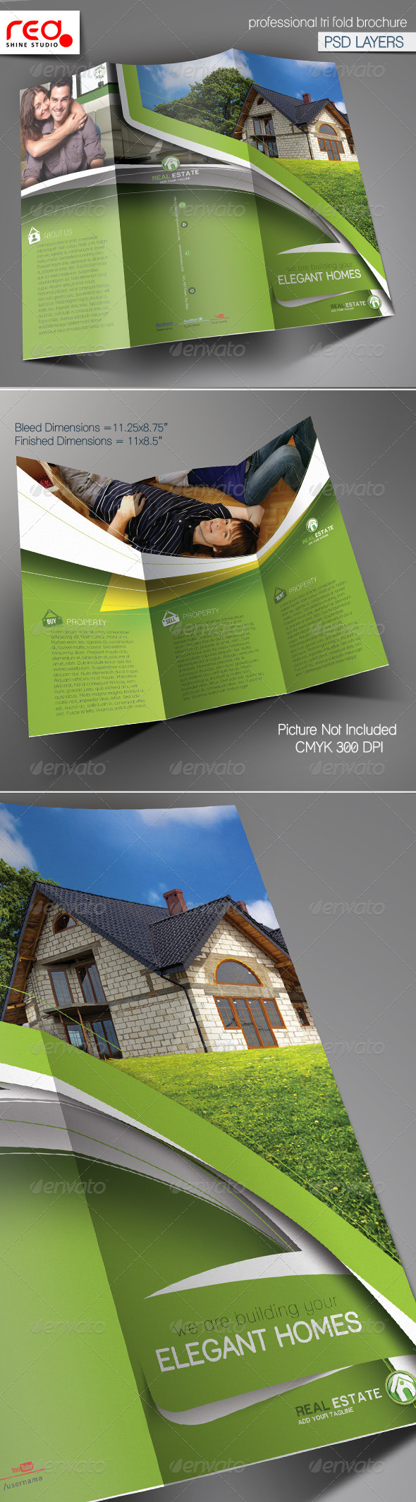 GraphicRiver Real Estate Trifold Brochure Template 2 5900281