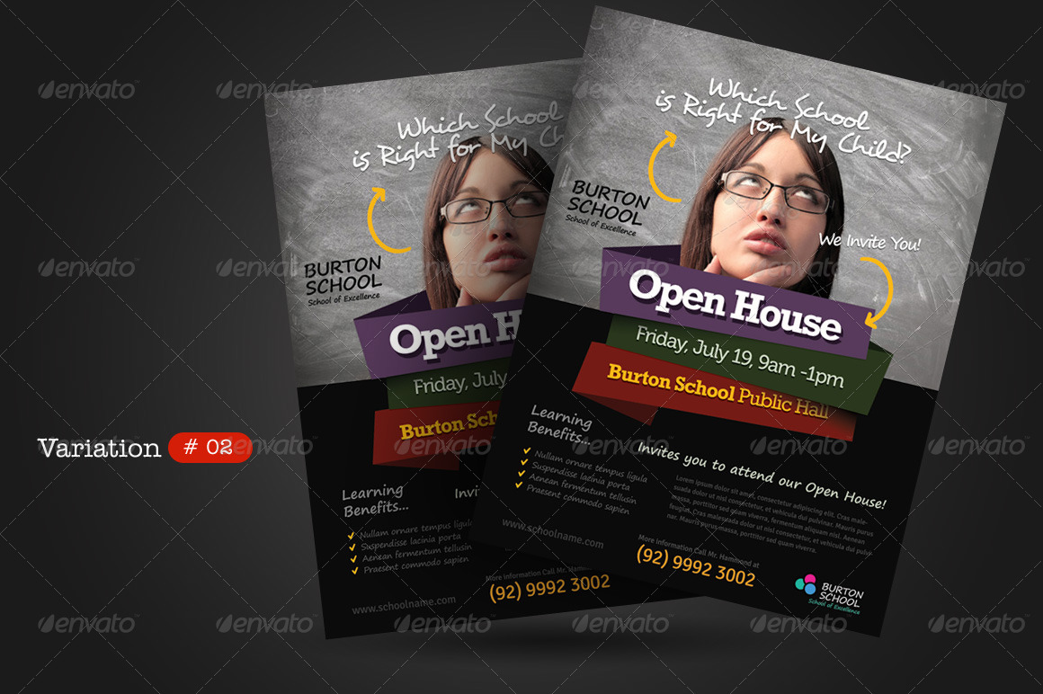 school open house flyers by kinzi21 graphicriver school open house flyer preview set 01 graphic river school open house flyer jpg