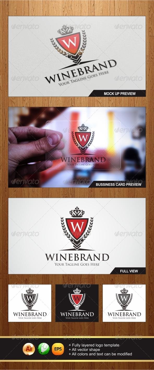 GraphicRiver Wine Brand Logo 5900345
