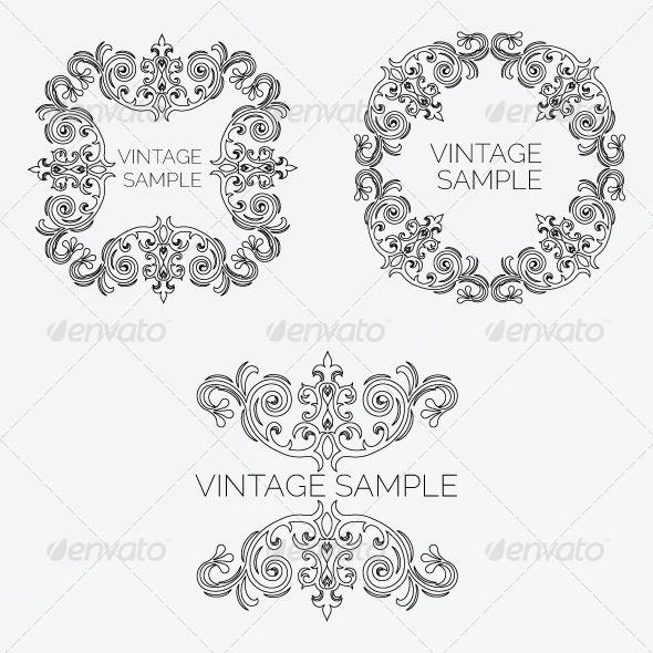 GraphicRiver Vintage Frame 54 5900405