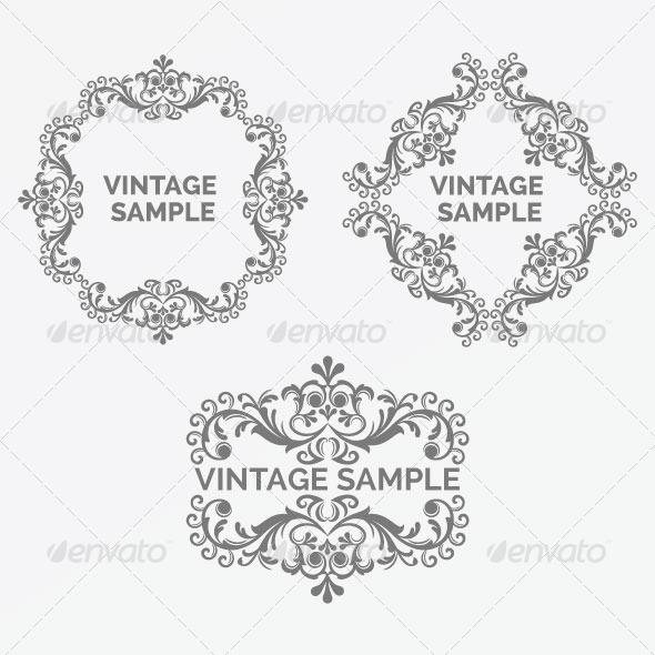 GraphicRiver Vintage Frame 55 5900408
