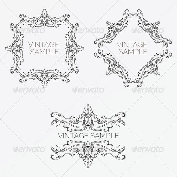 GraphicRiver Vintage Frame 58 5900421