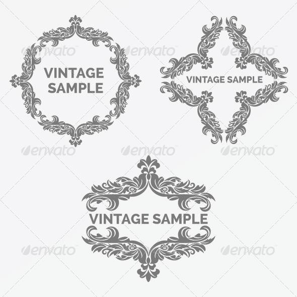 GraphicRiver Vintage Frame 60 5900431