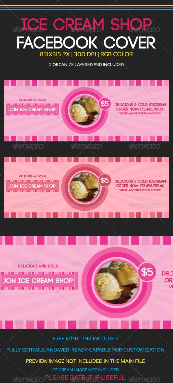 GraphicRiver Ice Cream Shop Facebook Cover 5900617