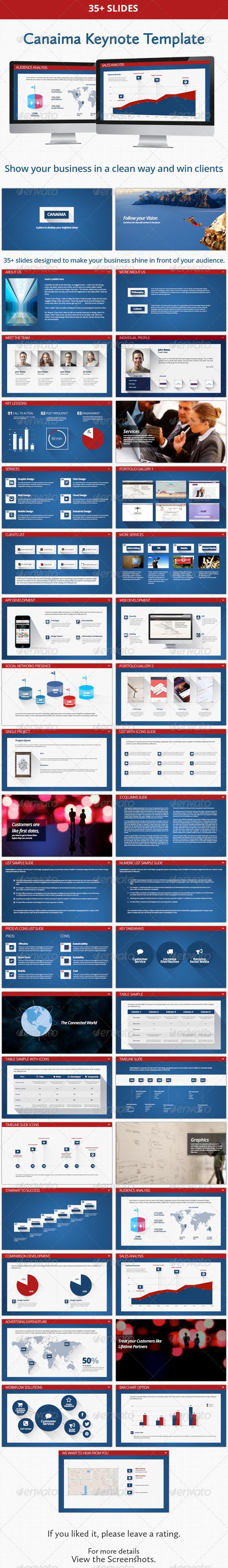 GraphicRiver Canaima Keynote Presentation Template 5883637