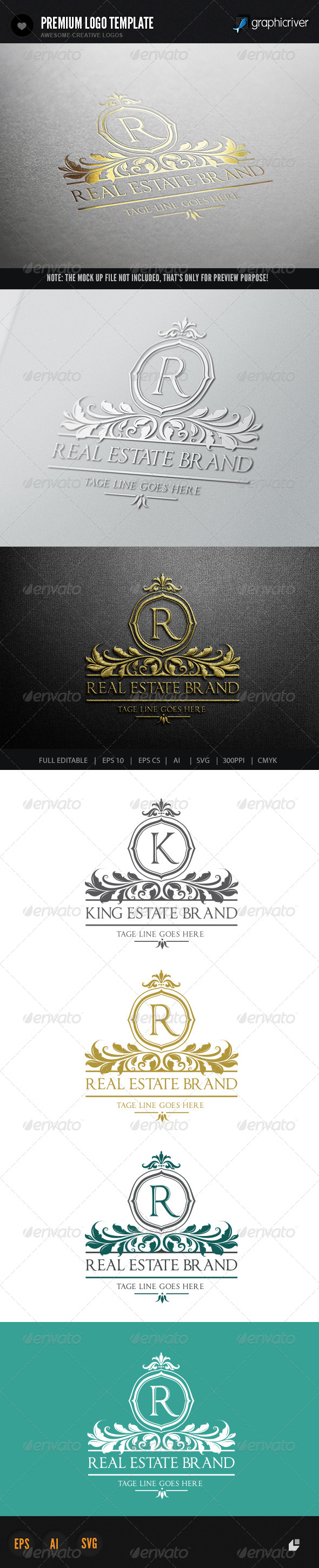 Real Estate Brand - Crests Logo Templates
