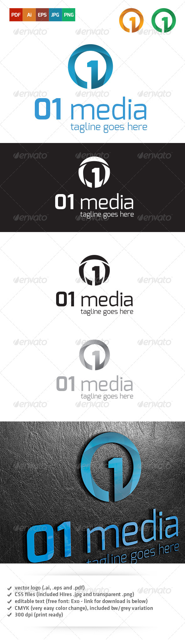 GraphicRiver Media Logo Template 5900928