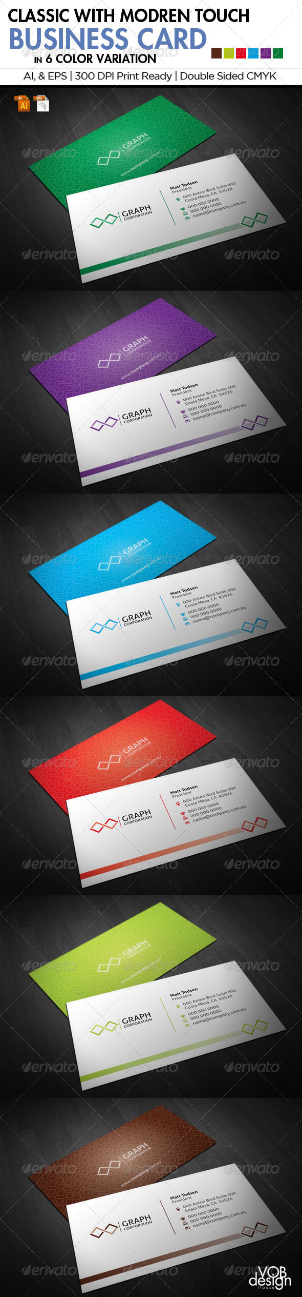 GraphicRiver Classic with Modern Touch Business Card 1 5840084