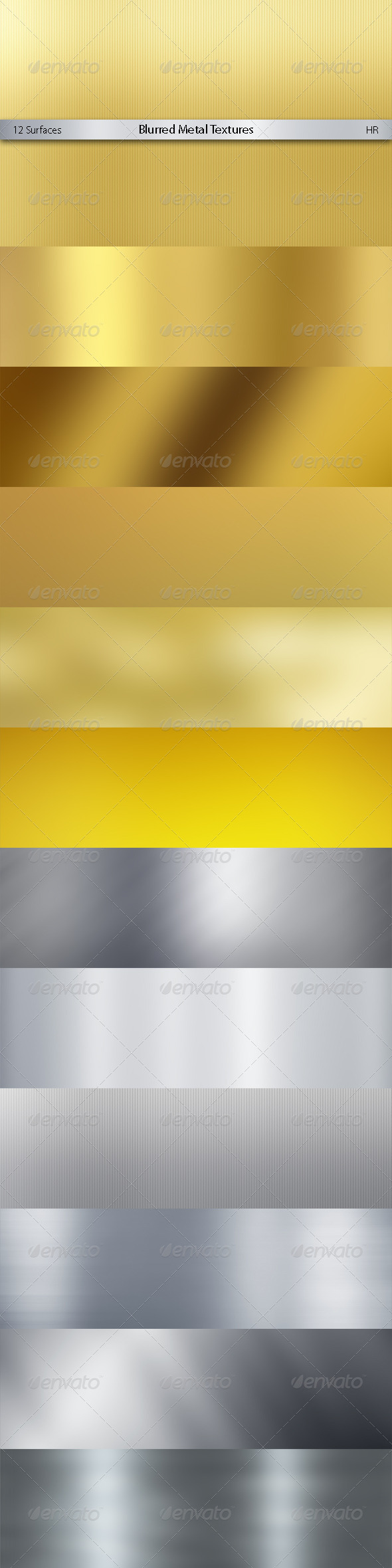 Blurred Metal Textures Background