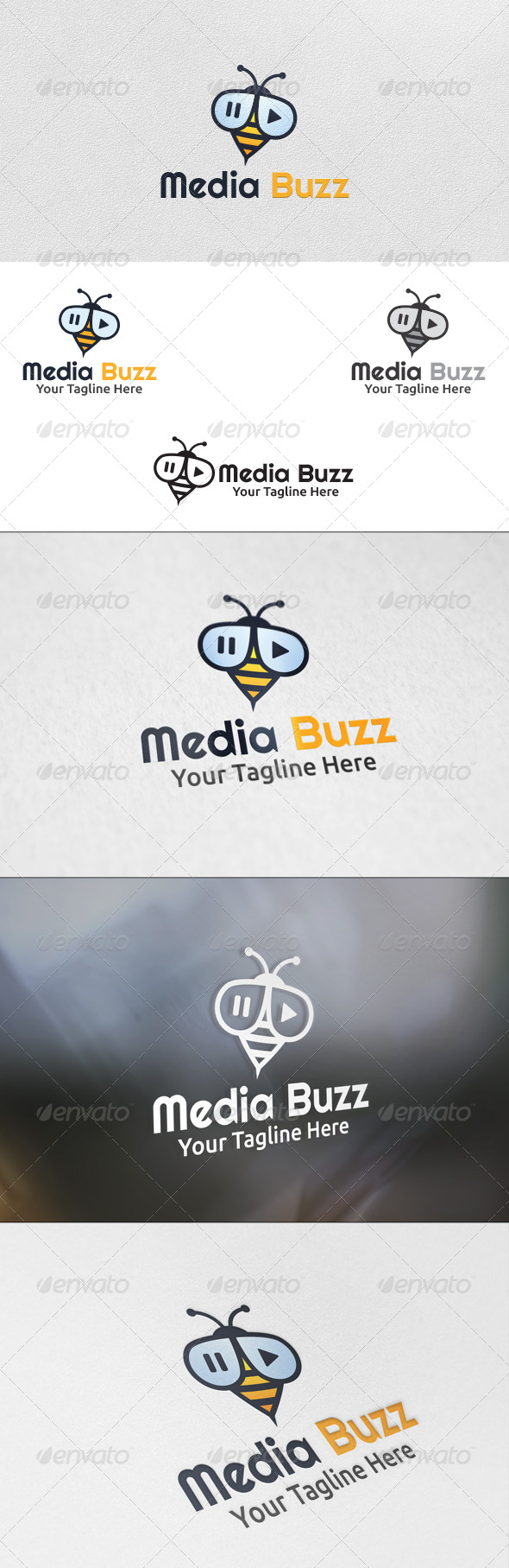 GraphicRiver Media Buzz Logo Template 5901312