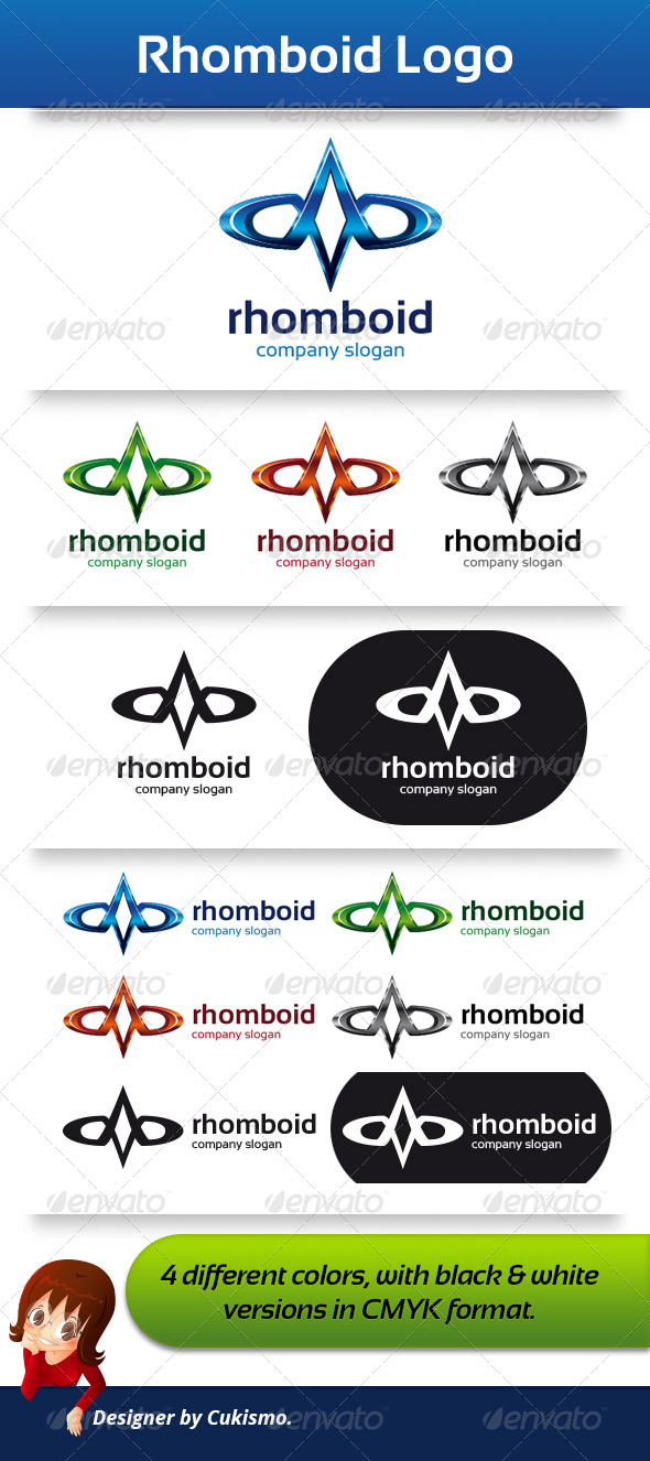 GraphicRiver Rhomboid Logo Template 5901318