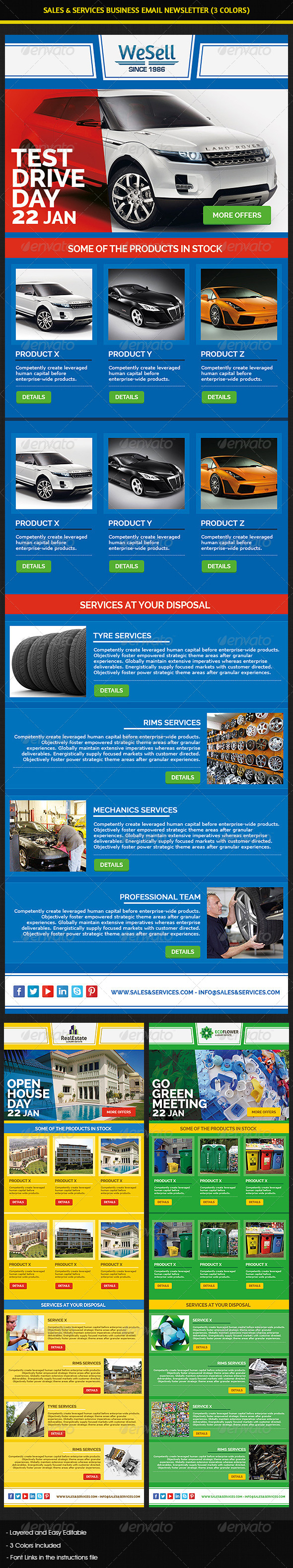 GraphicRiver Sales & Services Business Email Newsletter 5901435