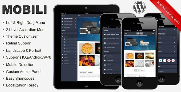 ThemeForest Mobili Premium WordPress Mobile Theme 5901442