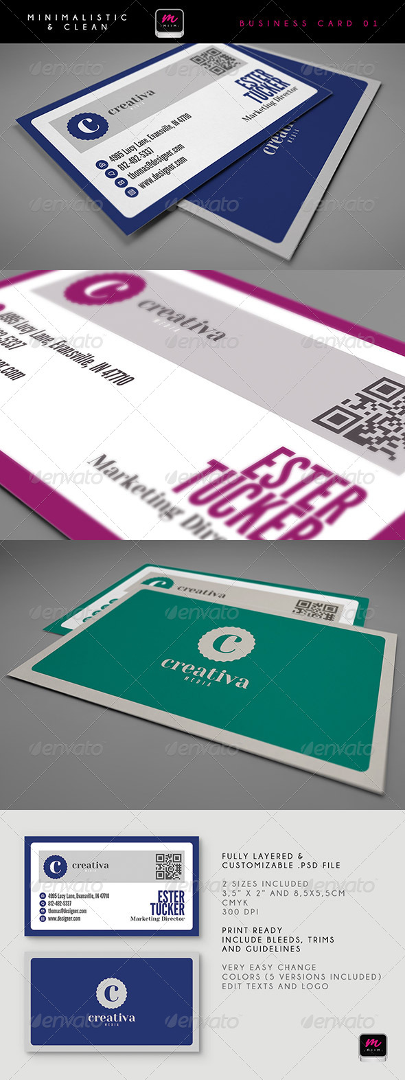 GraphicRiver Clean Business Card Template 02 5901512