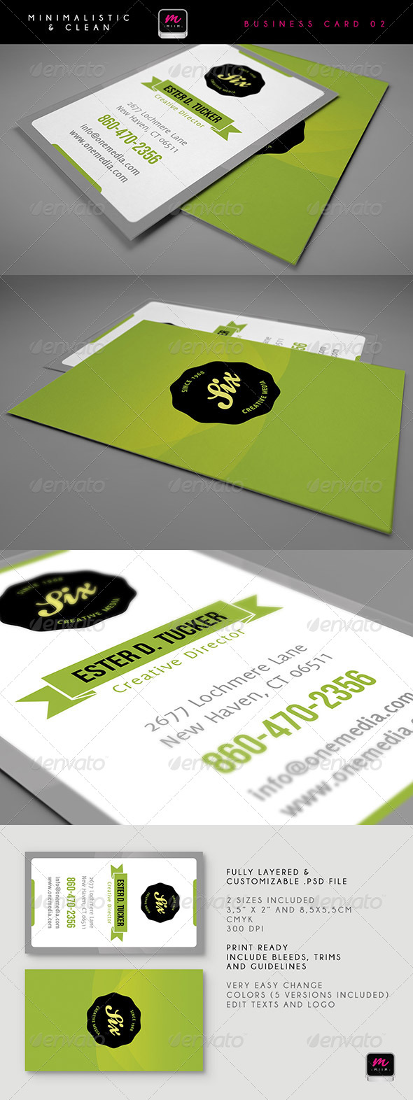 GraphicRiver Clean Business Card Template 03 5901518