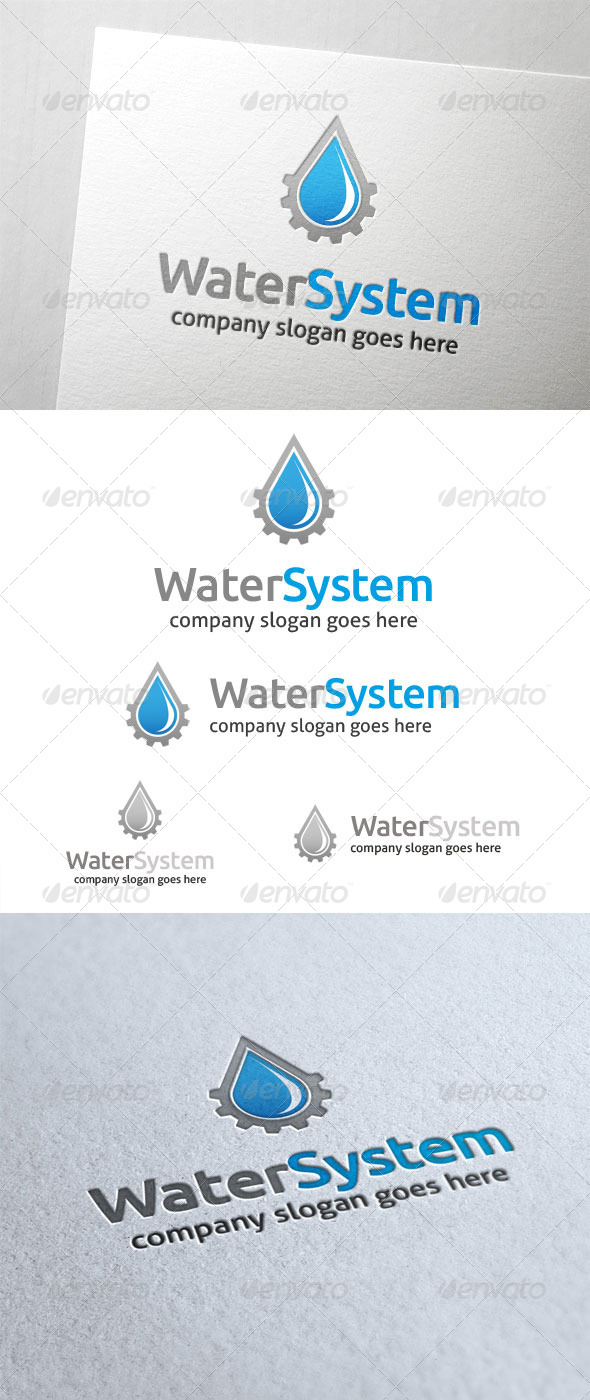 GraphicRiver Water System Logo 5901519