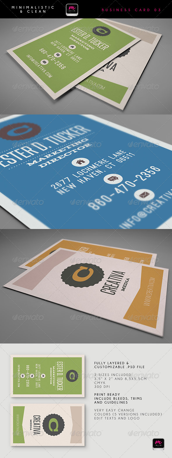 GraphicRiver Clean Business Card Template 04 5901533