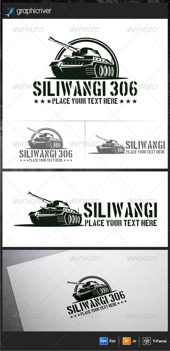 GraphicRiver Military Tank Logo Templates 5901679