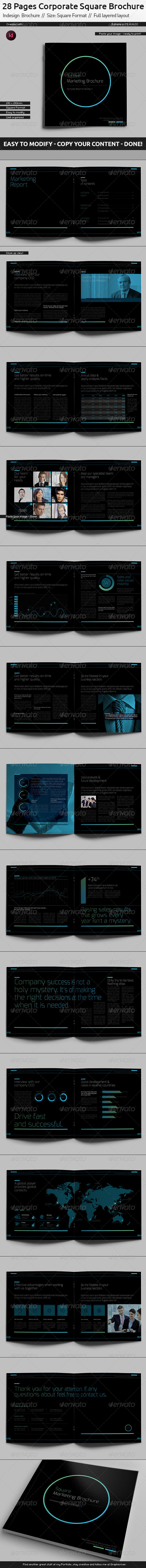 GraphicRiver Black Company Brochure Square Format 5901758