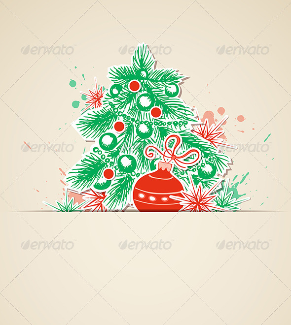 GraphicRiver Vector Christmas Background 5901787