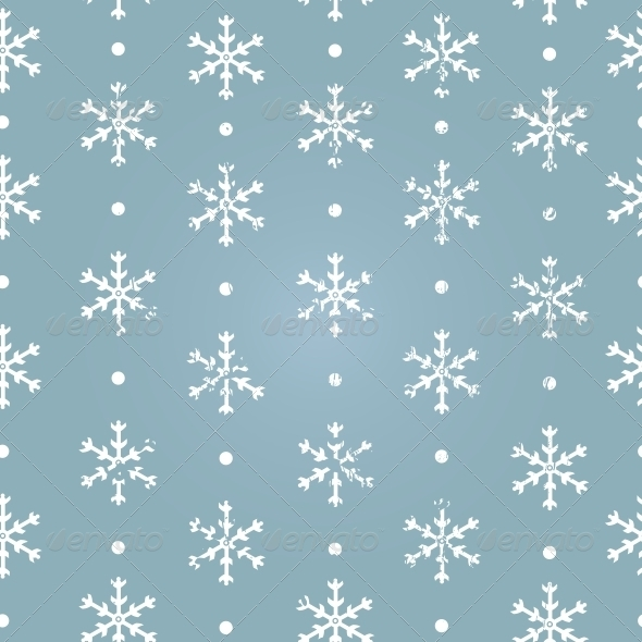 GraphicRiver Vector Seamless Pattern of Snowflakes 5901791
