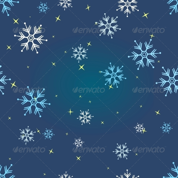 GraphicRiver Vector Seamless Pattern of Snowflakes 5901804