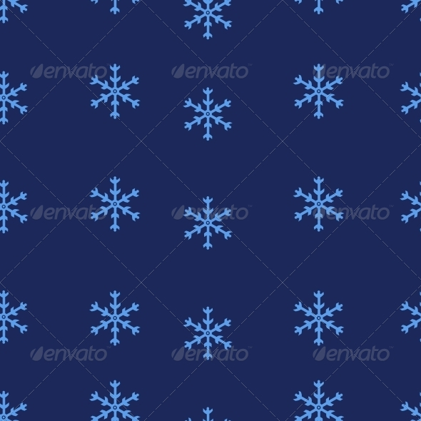 GraphicRiver Vector Seamless Pattern of Snowflakes 5901823