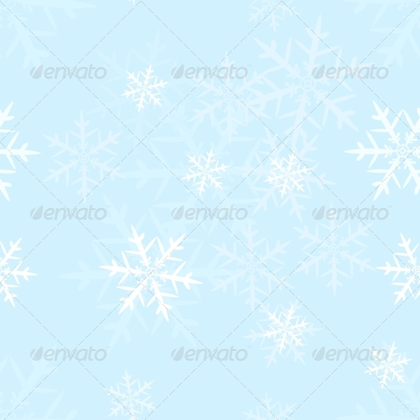GraphicRiver Vector Seamless Pattern of Snowflakes 5901826