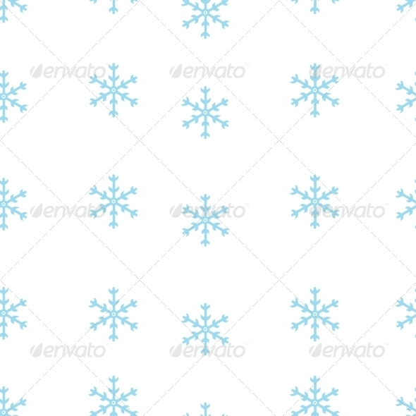 GraphicRiver Vector Seamless Pattern of Snowflakes 5901833