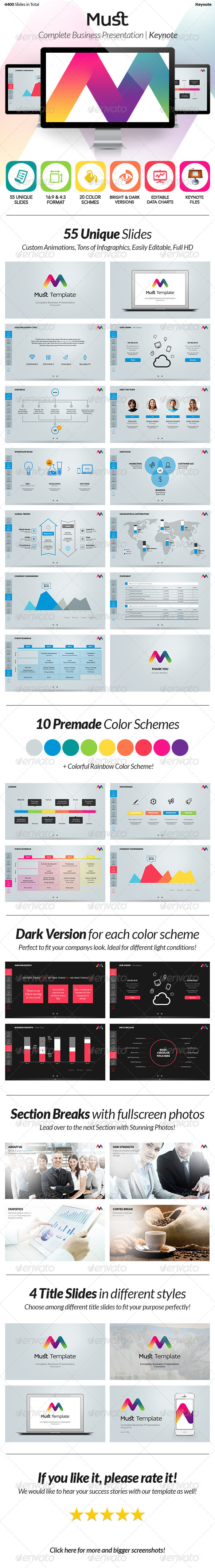 GraphicRiver Must Keynote Complete Business Template 5890097