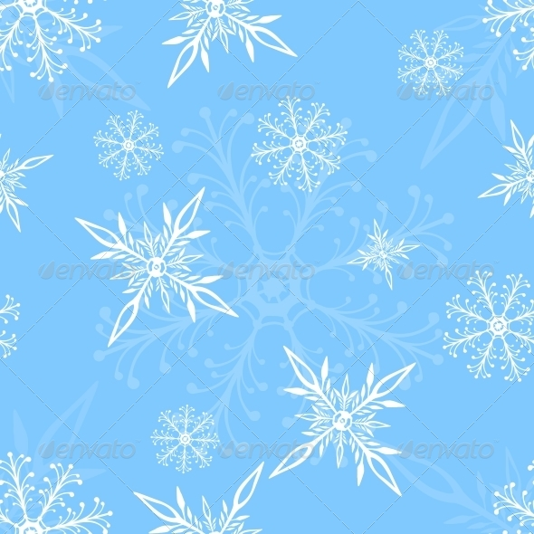 GraphicRiver Vector Seamless Pattern of Snowflakes 5901842
