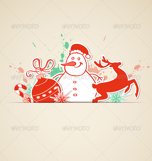 GraphicRiver Vector Christmas Background 5901970