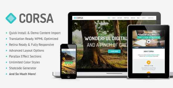 ThemeForest Corsa Retina Responsive Creative OnePage Theme 5902385