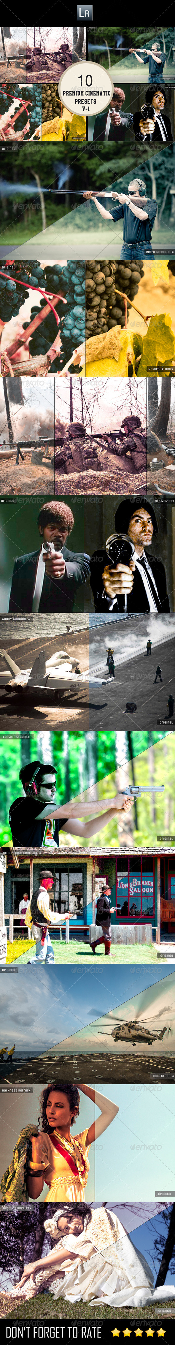 GraphicRiver 10 Cinematic Presets V-1 5902571