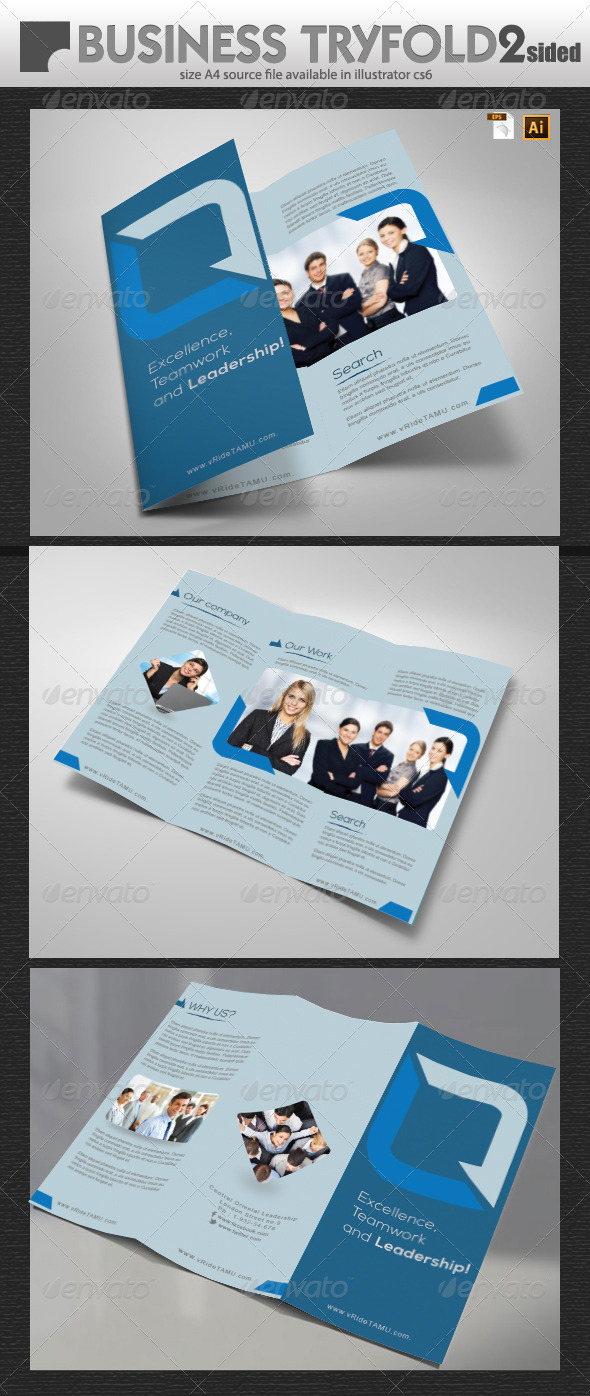 GraphicRiver Business Tri-Fold Brochure Design 5902574