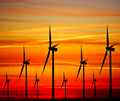 Windturbines at sunse - PhotoDune Item for Sale