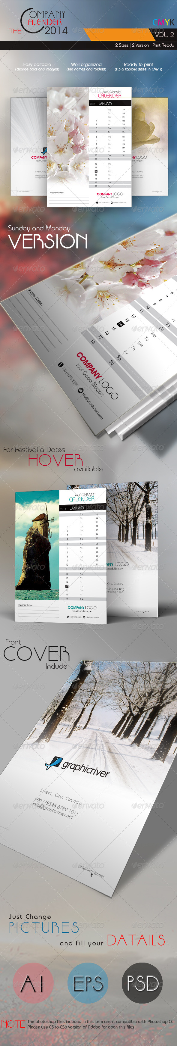 GraphicRiver The Company Calender 2014 Vol 2 5801516