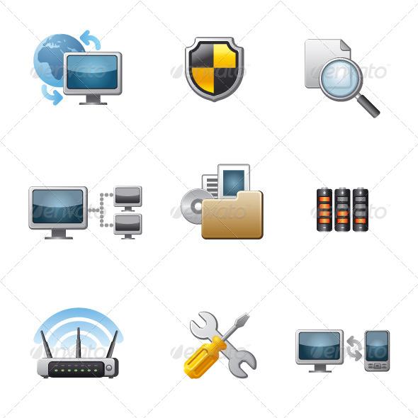 GraphicRiver Network Icon Set 5902855
