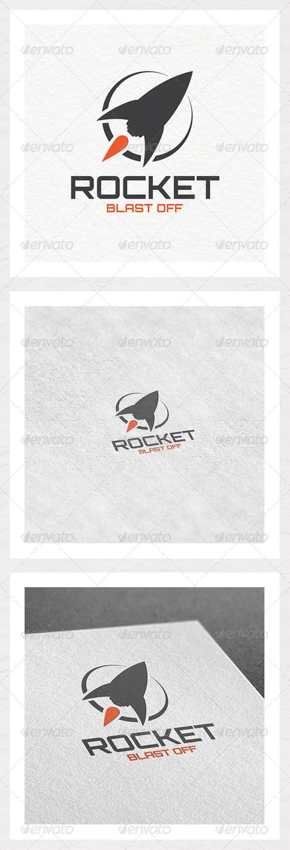 GraphicRiver Rocket Blast Off Logo 5902928