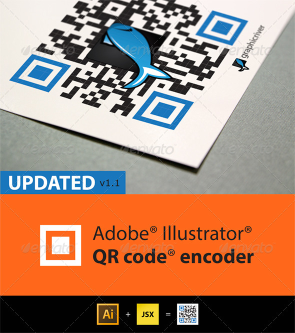 QR Code generator for Illustrator - Actions Illustrator