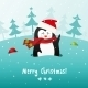 Christmas Penguin. Vector Background. - GraphicRiver Item for Sale